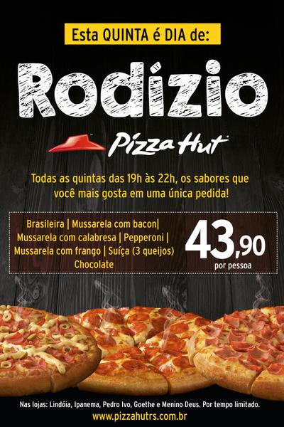 Pizza Hut tem rodízio as quintas - Display Card